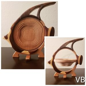 Pop-Up Wooden Fish Basket (Small, See Measurements